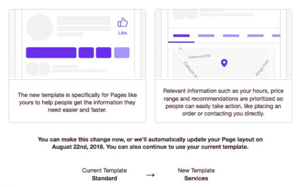 New template being pushed for facebook business pages ronkowitz llc many of you facebook received the same update news that i got about changes to business pages i have read that these changes are largely inspired by a push fbccfo Image collections